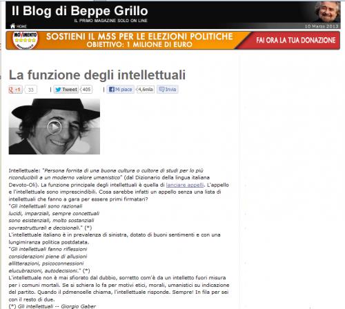 Grillo e gli intellettuali